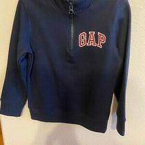 Baby Gap Boys 1/4 Zip Pullover Long Sleeve Navy Blue Sz 5t With Red Gap Logo Photo