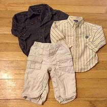 Baby Gap Boys 12 18 Months Chaps Long Sleeve Shirt Khaki Pants Lot of 3 Corduroy Photo