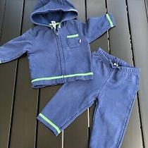 Baby Gap Boys 2pc Cotton Sweatshirt Hoody Pants Set 6-12-18 Top Outfit Photo