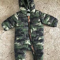Baby Gap Boys 3-6 Months Camouflage Puffer Snowsuit Coat. Photo