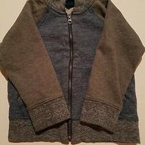 Baby Gap Boys 3t Blue & Gray Zip Up Sweatshirt Pockets & Contrasting Cuffs Hem Photo
