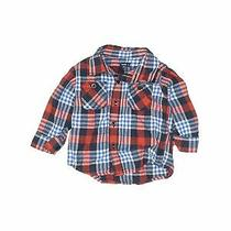 Baby Gap Boys Blue Long Sleeve Button-Down Shirt 12-18 Months Photo