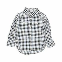 Baby Gap Boys Blue Long Sleeve Button-Down Shirt 3 Photo