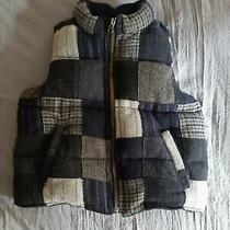 Baby Gap Boys Blue Plaid Ski Vest Jacket Size 4 Photo