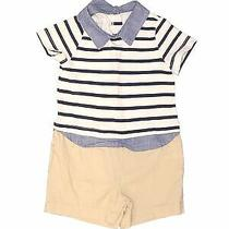 Baby Gap Boys Blue Short Sleeve Outfit 6-12 Months Photo