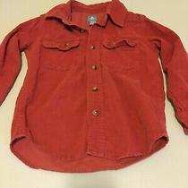 Baby Gap Boys Button Down Corduroy Red Long Sleeve Shirt Size 4 Yrs Photo