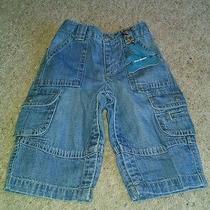 Baby Gap Boys Cargo Elastic Waist Light Denium Jeans 6-12m New With Tags Photo