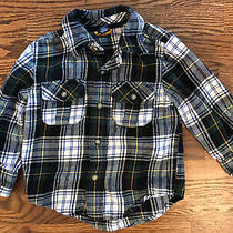 Baby Gap Boys Flannel Plaid Shirt Blue Green Size 2t Photo