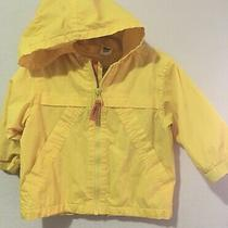 Baby Gap Boys/ Girls  Yellow Hooded Rain Wind Breaker Jacket 18 -24 Months 2t Photo