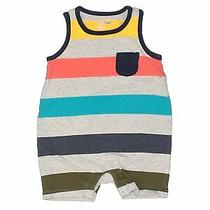Baby Gap Boys Gray Short Sleeve Outfit 3-6 Months Photo