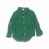 Baby Gap Boys Green Long Sleeve Button-Down Shirt 3 Photo