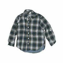 Baby Gap Boys Green Long Sleeve Button-Down Shirt 4t Photo