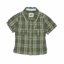 Baby Gap Boys Green Short Sleeve Button-Down Shirt 3 Photo