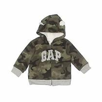 Baby Gap Boys Green Zip Up Hoodie 6-12 Months Photo