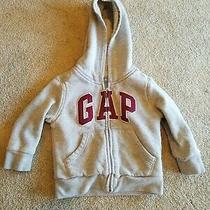 Baby Gap Boys Grey Hooded Front Zipper Sweatshirt Size 2t Photo