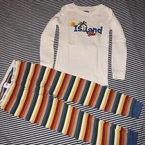 Baby Gap Boys Island Crab Cotton 2pc Pajams Set Pjs 4 Years Top Pants Photo