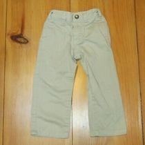 Baby Gap Boys Khaki Pants Size 3 Years Beige Pockets Casual Adjustable Waist Photo