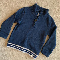 Baby Gap Boys Long Sleeve 1/4 Zip Navy Pullover Sweater Shirt Size 3t Photo