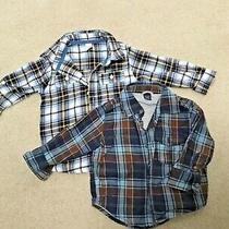 Baby Gap Boys Lot of 2 Dress Shirts Size 12 18 Mos Toddler Cotton Lined Warm  Photo