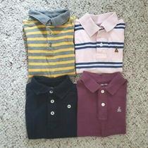 Baby Gap Boys Lot of 4 Short Sleeve Solid & Striped Golf Shirts Bodysuit 12-18m Photo