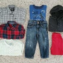 Baby Gap Boys Lot of 7 Pc Distressed Jeans Assorted Button Down Shirts Sz 12-18m Photo