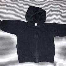 Baby Gap Boys Navy Blue Zippered Hoody Sweatshirt 12-18 Months Selling Tons Top Photo
