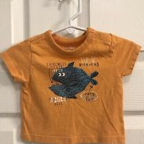 Baby Gap Boys Orange & Blue Piranha Fish T-Shirt Size 0-3 Months Photo