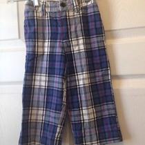 Baby Gap Boys Plaid Cotton Pants Size 18-24 Photo