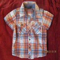 Baby Gap Boys Plaid Short-Sleeve Shirt (12-18 Months) Photo