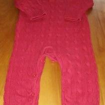 Baby Gap Boys Red Cable Knit Sweater One Piece Romper 18-24 Months 100% Ctn Photo