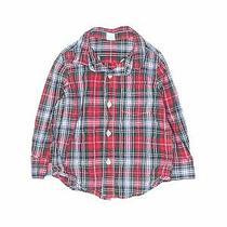 Baby Gap Boys Red Long Sleeve Button-Down Shirt 2 Photo
