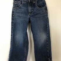 Baby Gap Boys Size 4 Blue Jeans Adjustable Waist Felt Lined Photo