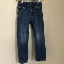 Baby Gap Boys Size 4 Blue Jeans Adjustable Waist Felt Lined Photo
