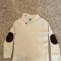 Baby Gap Boys Sweater Size 5 Cream With Brown Faux Leather Elbow Patches Cute Photo