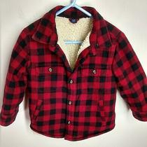 Baby Gap Boys Toddler 2t Red Buffalo Plaid Fleece Lined Coat Photo