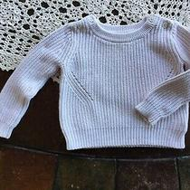 Baby Gap Boys White Cable Knit Sweater Pullover Sz 12-18 Month Photo