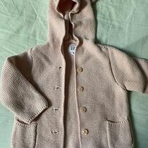 Baby Gap Brannan Bear Sweater Toddler Girl Sz 18-24 Months Pink Knit Hoodie Photo