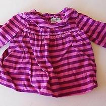 Baby Gap Brannan's Favorites Brand Pink & Purple Striped Top - Size 3-6 Months Photo