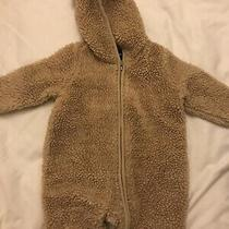 Baby Gap Brown Sherpa One Piece Hooded With Bear Ears Size 3-6 Months Photo