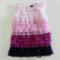 Baby Gap Cabana Gradient Purple Tulle Dress Girls 12-18 Months Nwt New Photo