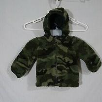 Baby Gap Camoflage Hooded Zip Up Thick Fleece Jacket 6-12 Months Photo