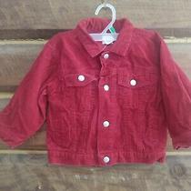 Baby Gap Corduroy Red Jacket Coat Size L/xl 12-24 Months Spring  Photo