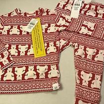 Baby Gap Cute Argyle Bear Print Red & White Holiday Pajama Set Unisex Sz 6-12 Mo Photo