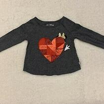 Baby Gap Dark Gray Minnie Mouse Shirt Heart 2 Photo