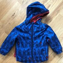 Baby Gap Dc Superman Jacket Windbreaker Jersey Lined Toddler 3t Removable Cape Photo