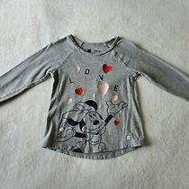Baby Gap Disney Minnie Mouse Toddler Girl Shirt Euc 4t Love Hearts Photo