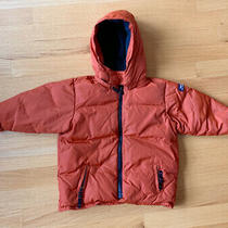 Baby Gap Down Hooded Jacket Toddler Boy Girl 12-18 Month Orange Euc Photo