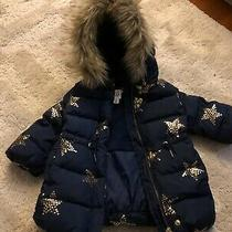 Baby Gap Down Puffer Jacket Gold Stars Photo