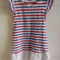 Baby Gap Dress Size 12-18 Months With Red and Blue Stripes 100% Cotton Casual Photo