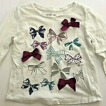 Baby Gap Embelished Bow Sparkle Print Top Size 4 Years Photo